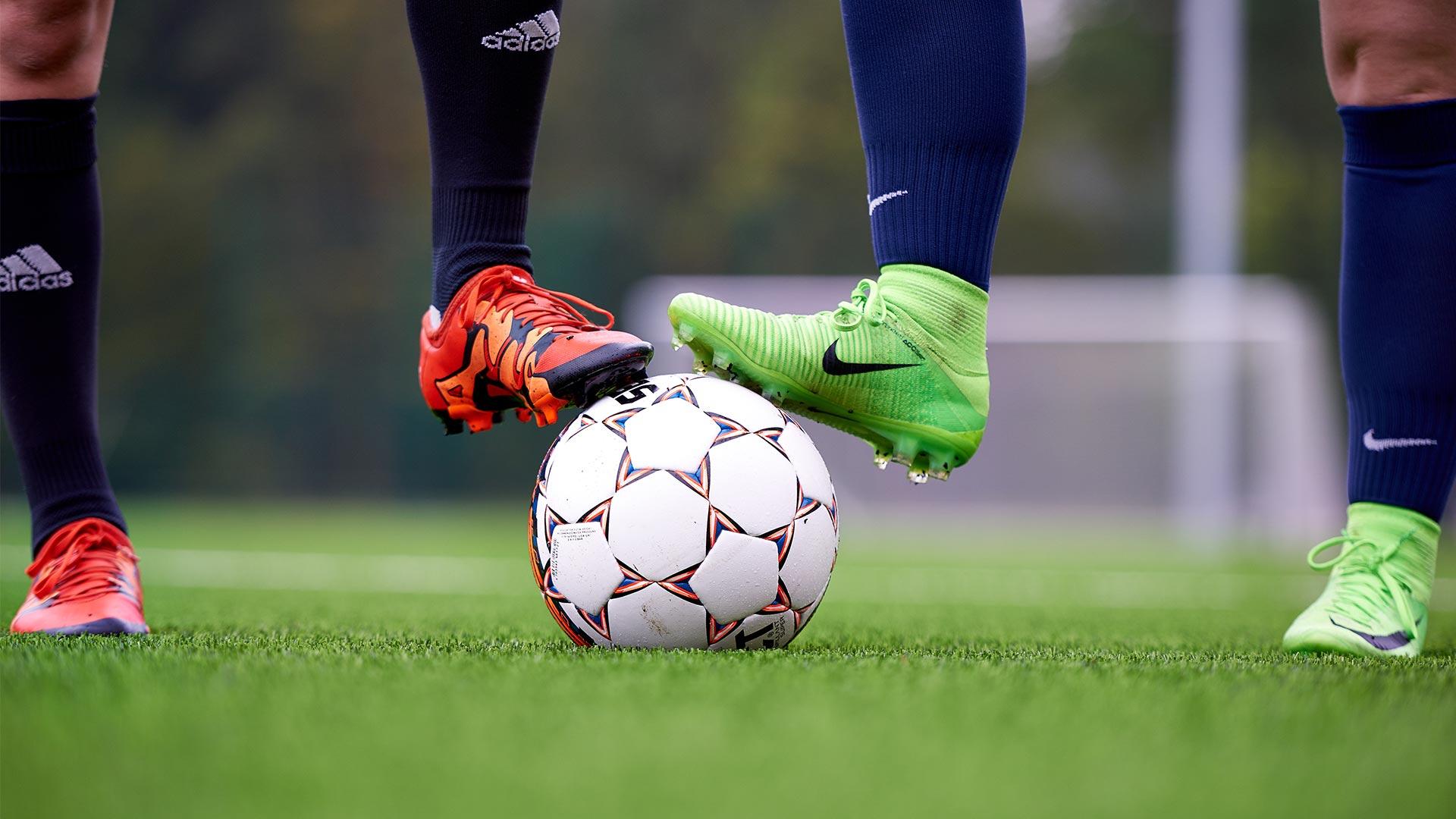 Klar til fodboldkamp