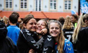 glade piger på Lægården idrætsefterskole